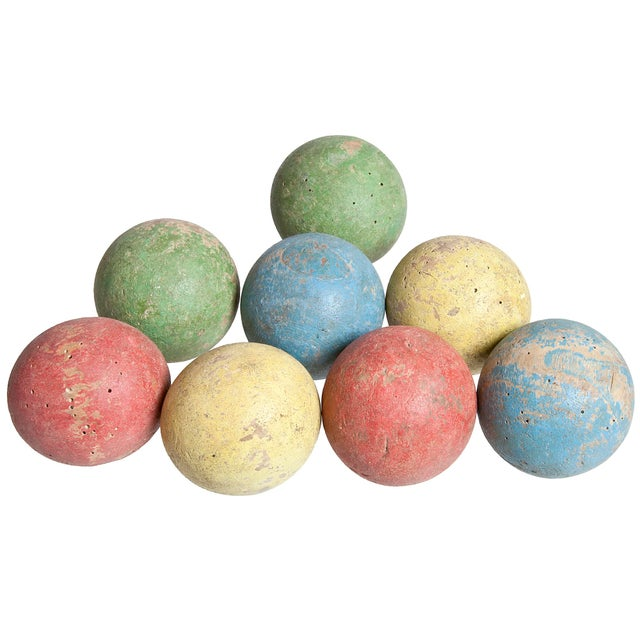 French Wood Boules - Set of 8 - Image 2 of 2