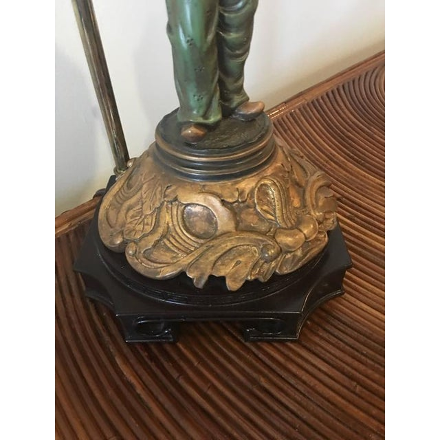 Mid 20th Century Chinoiserie Pagoda Oriental Table Lamp For Sale - Image 5 of 10