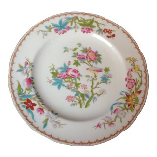Antique English Mintons Floral Dinner Plates For Sale