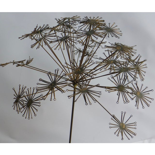 Signed Friedle Metal Wildflower Sculpture - Image 3 of 11