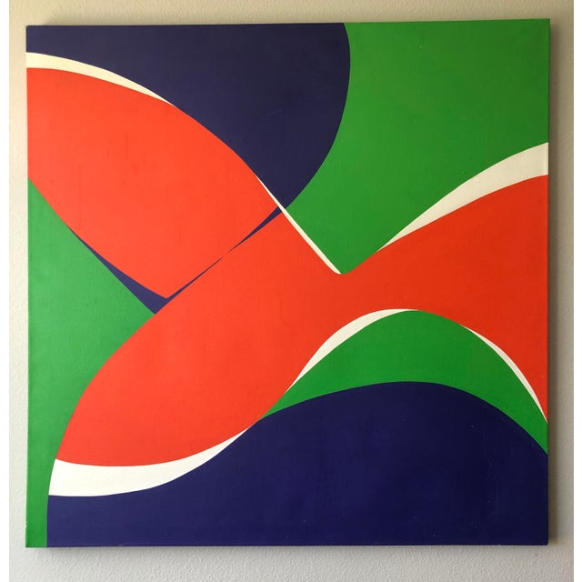 """Monumental Modern Acrylic on Canvas, """"Vibrations"""", Betty Usdan-Zwickler, 1982 For Sale In Las Vegas - Image 6 of 6"""