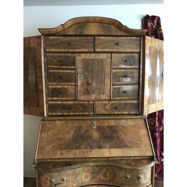 1700s Italian Drop Front Walnut Secretary Desk For Sale In Kansas City - Image 6 of 12