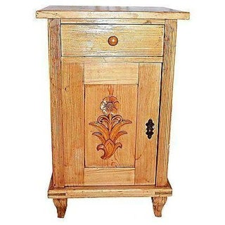 Antique Danish Night Table For Sale