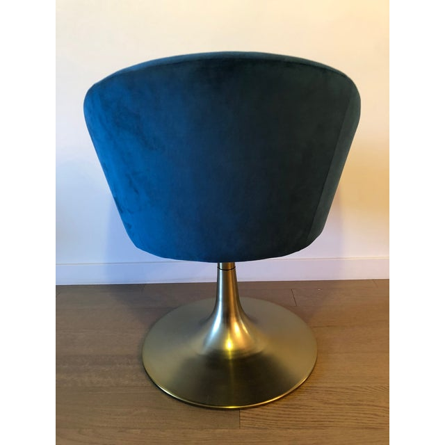 "2010s West Elm ""Bond"" Upholstered Swivel Chair For Sale - Image 5 of 7"