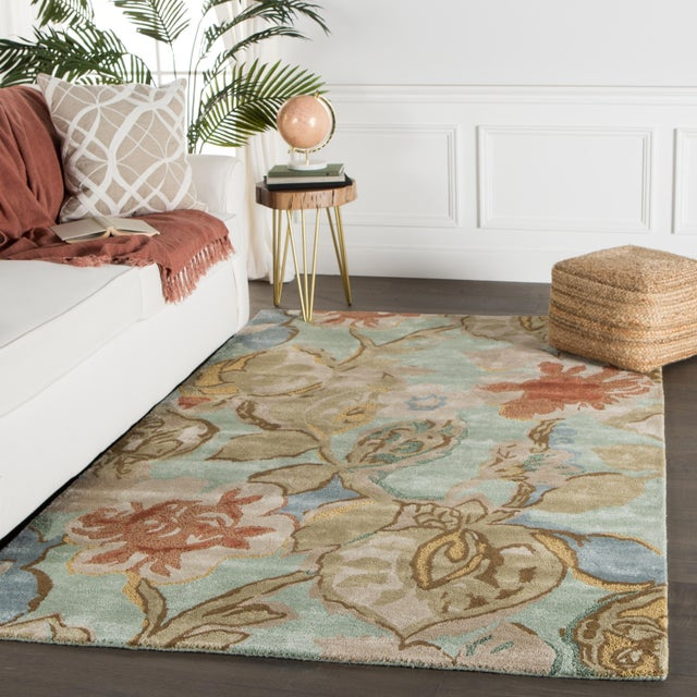2020s Jaipur Living Petal Pusher Handmade Floral Green Multicolor Area Rug 2'X3' For Sale - Image 5 of 10