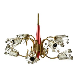 Mid Century Chandelier by Emil Stejnar for Rupert Nikoll, 1950s For Sale