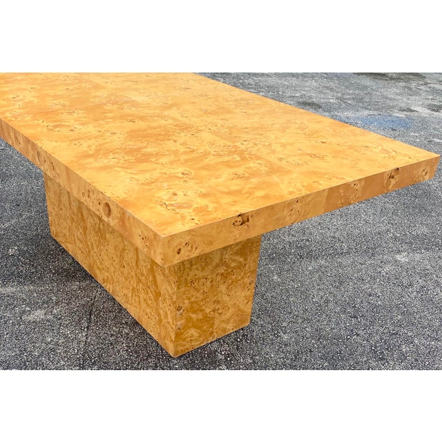 Mid-Century Modern MidCentury Dillingham Burl Wood Dining Table For Sale - Image 3 of 12