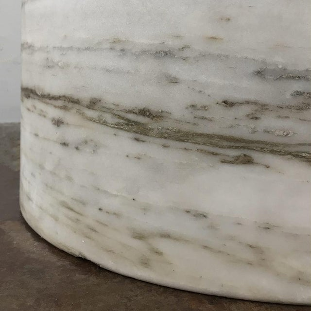 Pair Antique Solid Marble Half-Columns ~ Pedestals For Sale In Dallas - Image 6 of 13