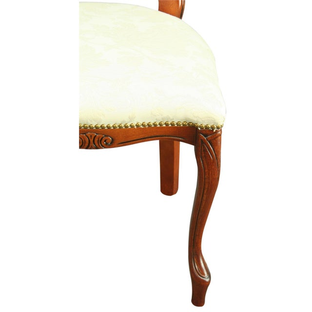 Italian Rococo-Style Mahogany Chair For Sale - Image 4 of 8