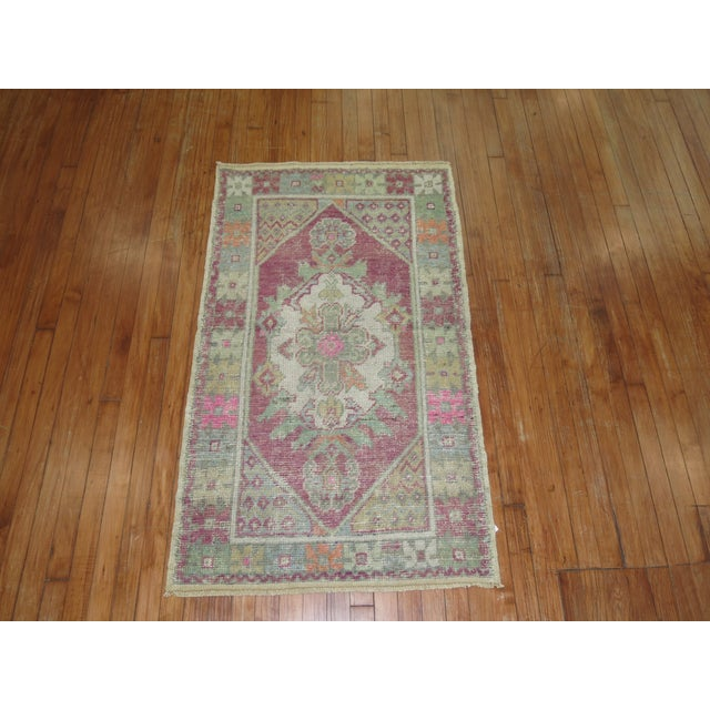 Vintage Turkish Rugs - a Pair - 2'8'' x 4'8'' For Sale In New York - Image 6 of 9