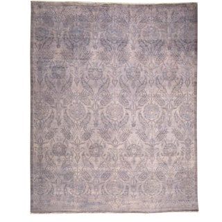 "Moroccan Vibrance Hand Knotted Gray Wool Area Rug - 8'1"" X 10'0"""
