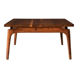 Mid Century Solid Walnut Coffee Table For Sale