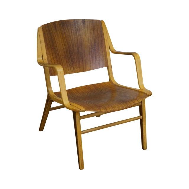 Peter Hvidt & Orla Molgaard for Fritz Hansen Axe Lounge Chair For Sale