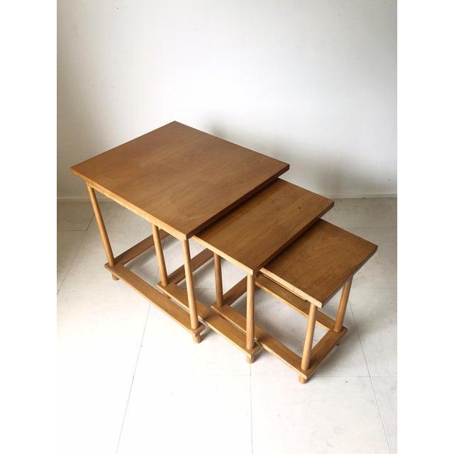 T.H. Robsjohn-Gibbings Nesting Tables - Set of 3 For Sale In Milwaukee - Image 6 of 7