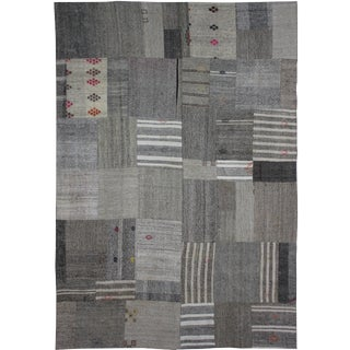 "Aara Rugs Inc. Hand Knotted Patchwork Kilim - 11'5"" X 8'3"" For Sale"