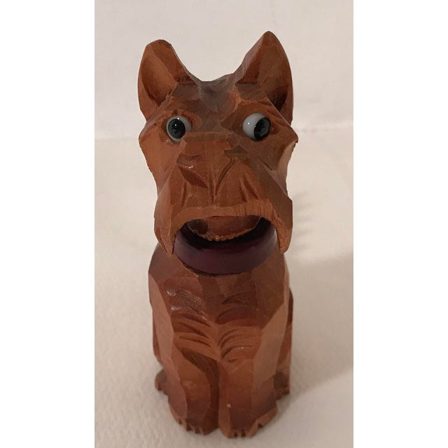 What a cutie this one is! Wooden carved Scottie dog corkscrew!