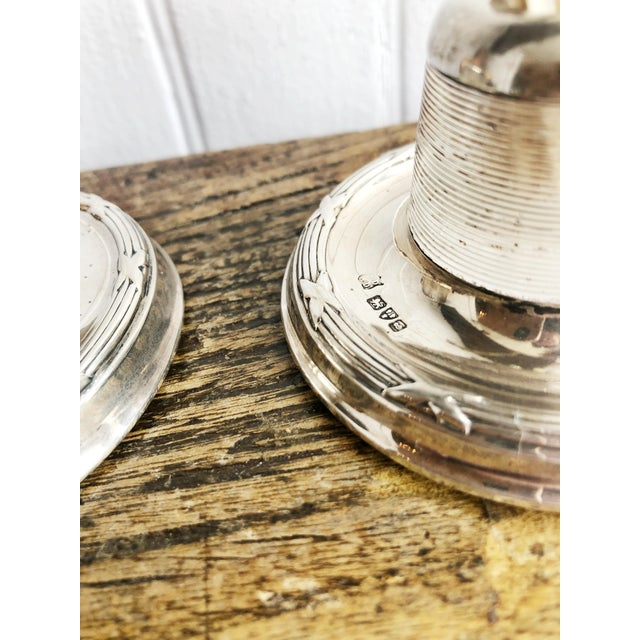 Antique English Sterling Silver and Glass Match Strikers - a Pair For Sale - Image 9 of 10