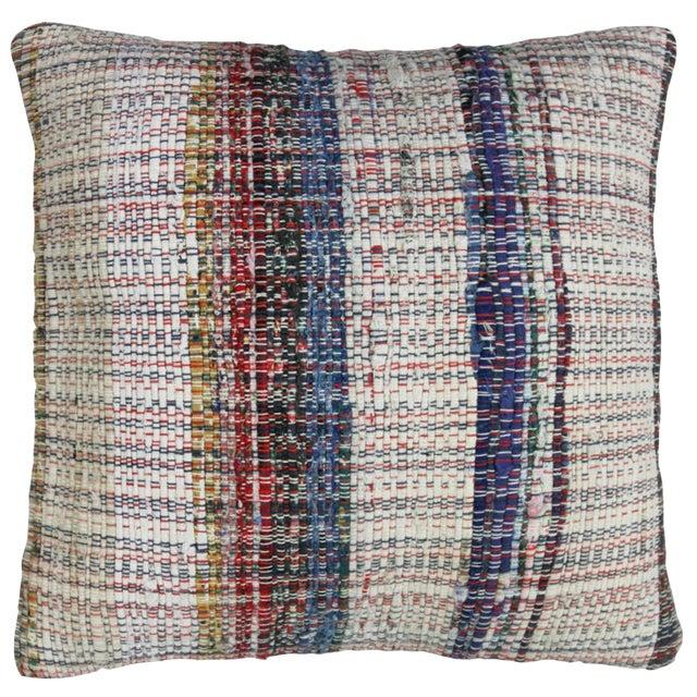 "Cotton Kilim Pillow | 16"" - Image 1 of 2"