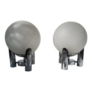 Mid-Century Modern Murano Table Lamps - a Pair For Sale