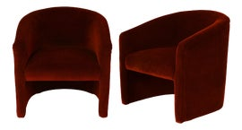 Image of Maroon Club Chairs