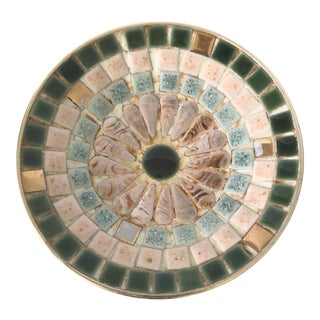 Mid-Century Mosaic Tile Trinket Dish For Sale