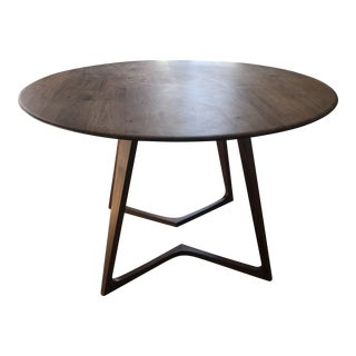 Traditional Zenith Solid Walnut Twist Table For Sale