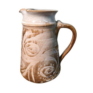 White & Brown Ceramic Pitcher