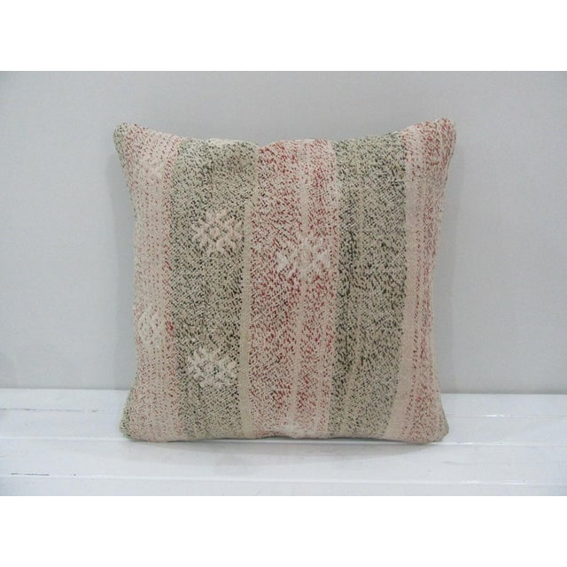Vintage Handmade Kilim Pillow Cover For Sale - Image 4 of 4
