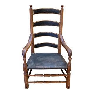 Antique Primitive Handmade Arm Chair For Sale