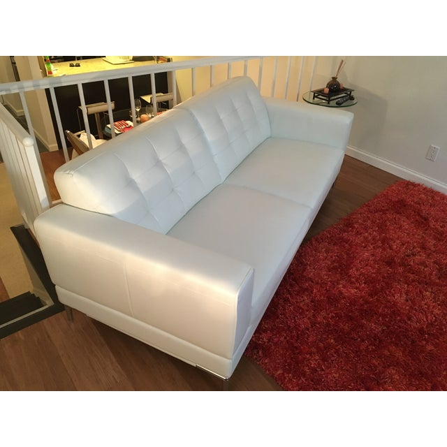 Modani Bristol White Leather Couch - Image 4 of 5