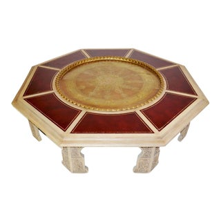 Huge Mid-Century Modern Moroccan Style Coffee Table For Sale