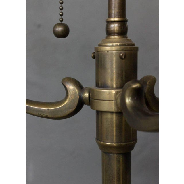 1940s French Brass Floor Lamp For Sale - Image 4 of 10