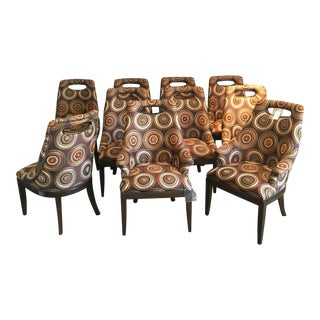 Contemporary Marge Carson Dining Chairs - Set of 10 For Sale