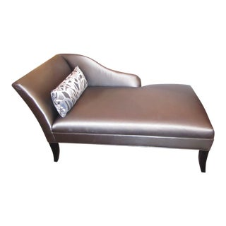 Mitchell Gold & Metallic Vinyl Chaise Lounge For Sale