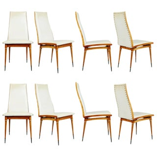 1950s Giuseppe Scapinelli Caviuna Dining Chairs, Brazil - Set of 8 For Sale