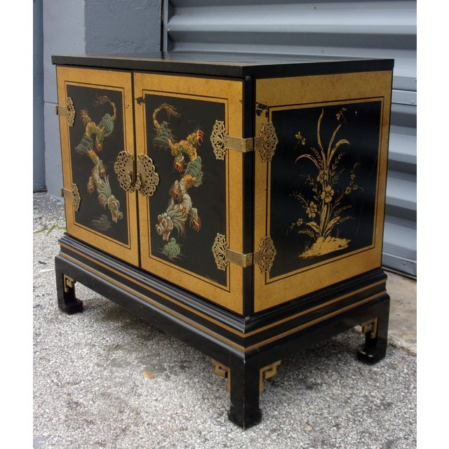Vintage Asian Style Cabinet With Brass Hardware - Image 5 of 11