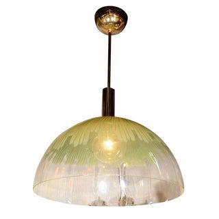 Venini Large Glass Dome Pendant Light by Ludovico Diaz De Santillana For Sale