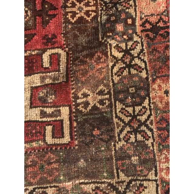 "Vintage Persian Shiraz Area Rug - 5'7""x8'1"" - Image 9 of 11"
