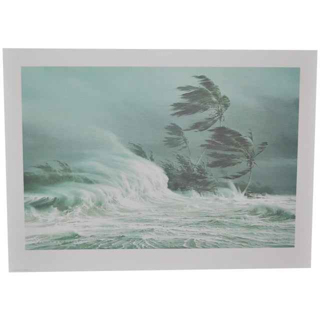 Carl G. Evers Vintage Tropical Storm Print For Sale