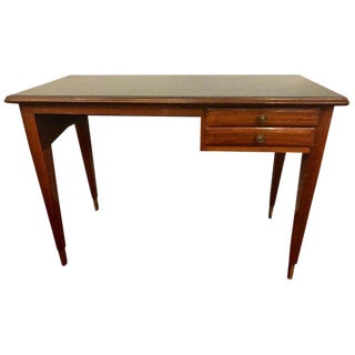 Mid-Century Modern Writing Table or Vanity in Rosewood With Green Glass Top