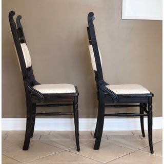19th Century Victorian Carved Black Oak Chairs - A Pair Preview