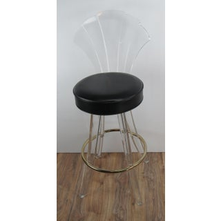 1970s Vintage Charles Hollis Jones Style Lucite Bar Stool Preview