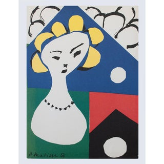 Henri Matisse First Edition Poster of Front Cover of the 1950 Catalog For Sale