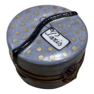1950's French Limoges Trinket Box For Sale