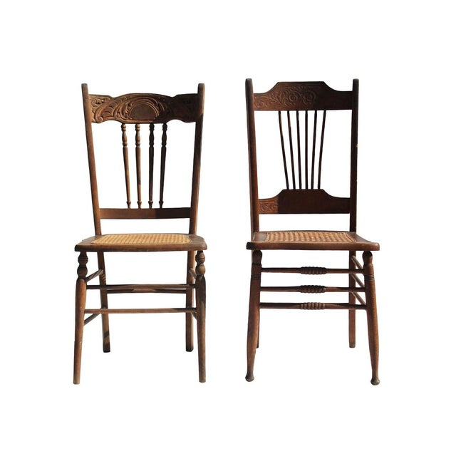 Vintage Dining Chairs - A Pair - Image 1 of 4