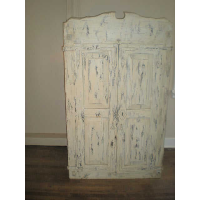Mid-Century Modern French Country Armoire Cast Iron Stand For Sale - Image 3 of 7