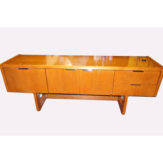 Mid-Century Modern Executive Desk and Credenza - Image 3 of 7