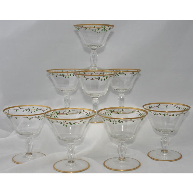 Vintage Footed Cocktail Glasses - Set of 8 - Image 2 of 5