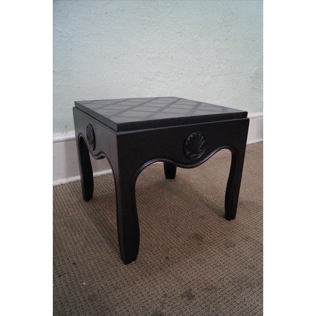 Mid-Century Ebonized Black Slate Top Side Tables - A Pair For Sale In Philadelphia - Image 6 of 10