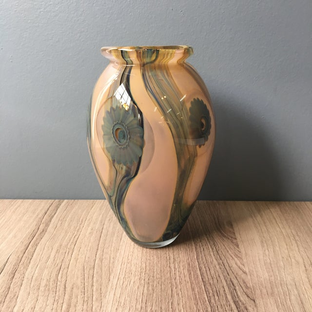 Contemporary 2006 Robert Eickholt Studio Art Glass Vase For Sale - Image 3 of 7